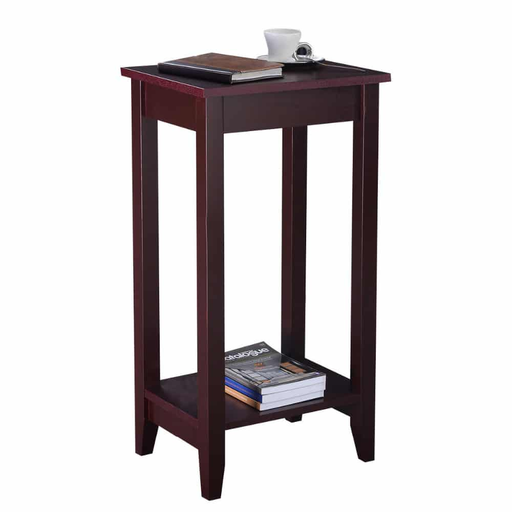 end tables bedroom wooden end table for bedroom amp living room borkut 11510