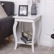 Modern White End Table For Bedroom & Living Room