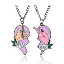 Best Buds Cigarettes and Lighters Pendant Necklace
