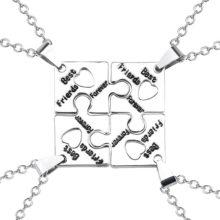 4 piece friendship necklace